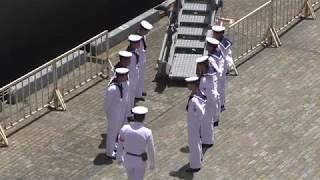 護衛艦たかなみ 三笠宮信子妃殿下 御退艦前準備 2017.6.3