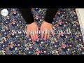 Se produktvideoen til Bomuldspoplin med farverige blomster - navy på YouTube