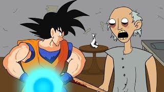 GRANNY THE HORROR GAME ANIMATION #2 : GOKU Vs Scary Granny