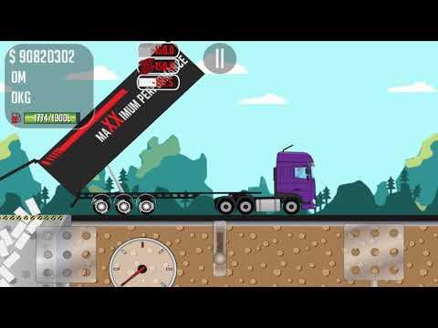 Game Trucker Joe is transporting bricks to an aircraft factory