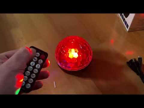 Discokugel Discolicht mit 16 Beleuchtungsformen LED Party MEKUULA Dj Lichter  unboxing und Anleitung