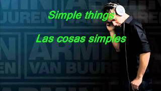 Armin van Buuren Feat Justine Suissa - Simple Things Letra + Subtitulos
