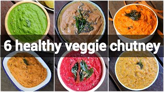 6 healthy vegetable chutney reicpes   vegetable based chutney recipes   chutney for rice & breakfast
