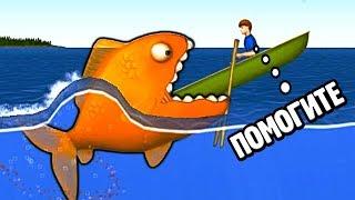 Симулятор голодной РЫБКИ проглотил машину и огромного кита в веселой мульт игре для детей Tasty Blue
