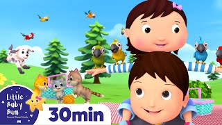 Learn to COUNT - Ten Little Animals! +More Nursery Rhymes and Kids Songs | Little Baby Bum