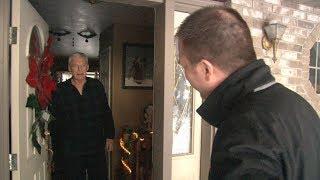 UPS driver battling cancer surprised when news crews knocks on his door