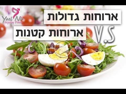 ההבדל בין ארוחות גדולות וארוחות קטנות