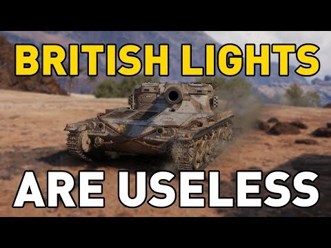 British Lights are USELESS in World of Tanks!