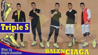 Review BALENCIAGA Triple S HÀNG THẬT - Bản 2018 màu 300% | Vlog 12 - Duyet Sneaker
