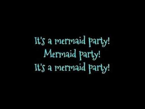 Barbie movie song: Mermaid Party! lyrics on screen
