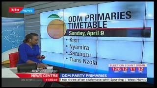 News Centre: ODM's primaries timetable