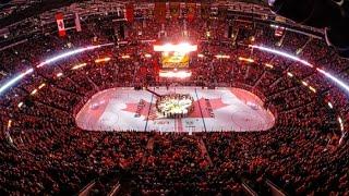 "Ottawa, Montreal and Toronto sing ""O Canada"""