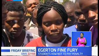 Egerton University students stage another surprise strike