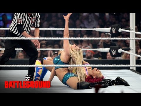 Sasha Banks &  Bayley vs. Charlotte & Dana Brooke: WWE Battleground 2016 on WWE Network