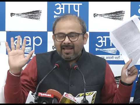 AAP Leader Dilip Pandey public the documentary evidence of Corruption of North MCD Mayor