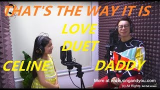 Celine Tam 譚芷昀 That's The Way It Is duet with Daddy