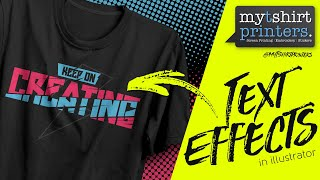 Adobe Illustrator Tutorials Vector Text Effects For Awesome T Shirt Designs