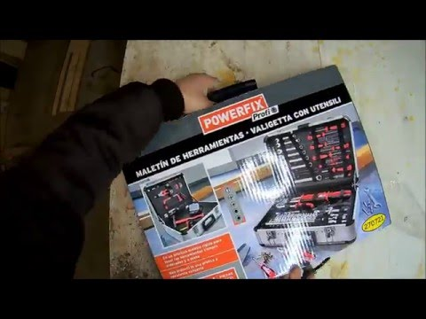 Unboxing borsa attrezzi powerfix 101 Pezzi ( Unboxing tool box Powerfix 101 piece )