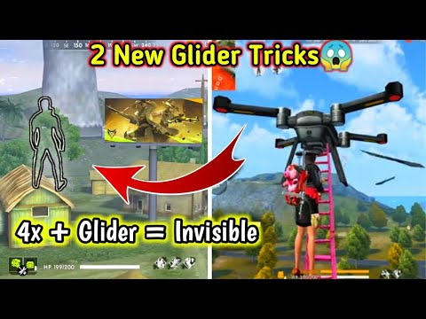2 New Glider Tricks // 4x + Glider = Invisible😱 Hack??