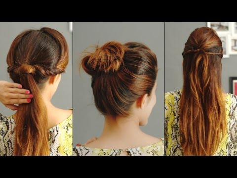 , title : '3 Quick And Easy Hairstyles For Greasy Hair'
