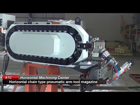 CHA-Horizontal chain type pneumatic arm tool magazine