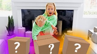 Letting My 1 Year Old Sister Choose My Mystery Surprise Box!!!