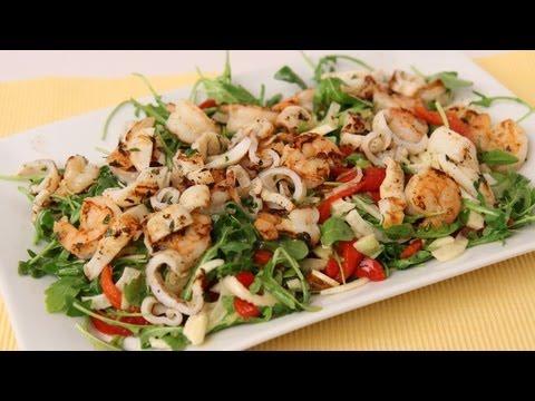 Grilled Shrimp & Calamari Salad Recipe – Laura Vitale – Laura in the Kitchen Episode 434
