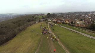 The start of the 2015 Moyleman Marathon, the inaugural Lewes marathon, shot from the air with a DJI Phantom 2 with GoPro Camera by Skylark Aerial Imaging.