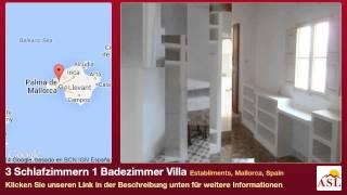 preview picture of video '3 Schlafzimmern 1 Badezimmer Villa zu verkaufen in Establiments, Mallorca, Spain'