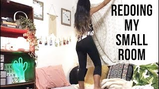 My Small Bedroom Makeover + Mini Room Tour! 2017 | Michelle Kanemitsu