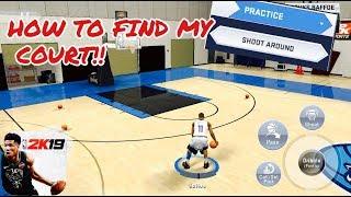 How To Find MY COURT In NBA 2K19 IOS/ANDROID!! Shootaround in NBA 2K19 MOBILE!