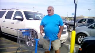 Handicapped parking fail Rapid city SD Walmart doesn't know what yellow lines mean