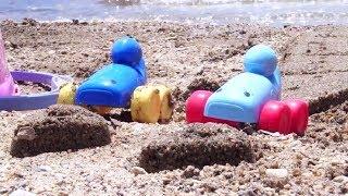 Кафе на пляже для машинок - Детский мультик про игрушки