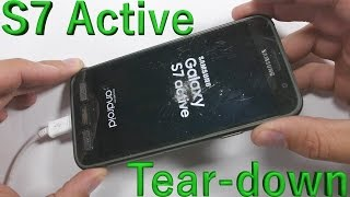Samsung Galaxy S7 Active Teardown - Screen Replacement - Battery Fix - Charging Port Repair