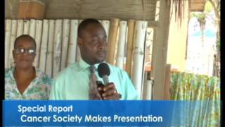 Cancer Society Makes Presentation...Special Report