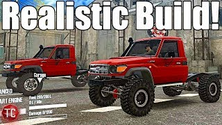 SpinTires MudRunner: NEW, REALISTIC Toyota Landcruiser LC70!