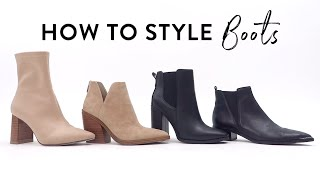 HOW TO STYLE BOOTS & BOOTIES   What to wear with different types of boots   Miss Louie