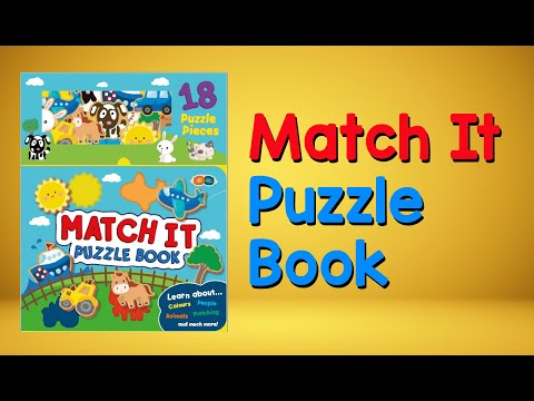 Youtube Video for Match It Puzzle Book - 18 Pieces