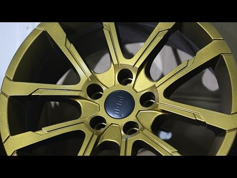 MOMO Quantum Evo Wheels Wrapped in Gold Satin   Plastidip India   Flaunt Ur Kuler