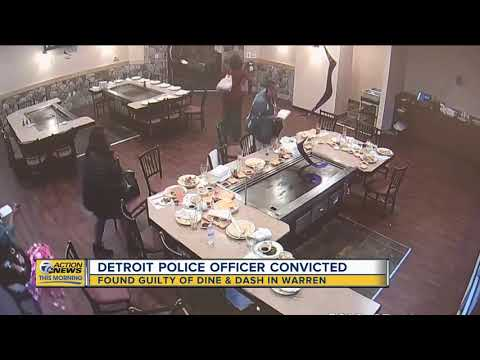 Detroit cop convicted in Warren dine-and-dash