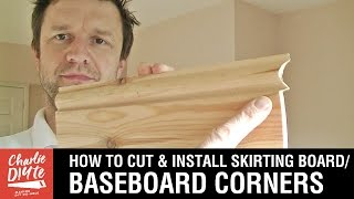 How to Cut & Install Skirting Board, Baseboard Internal Corners