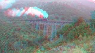 3D Video anaglyph - Mit Dampfg durch die Türkei - Steam train in Turky