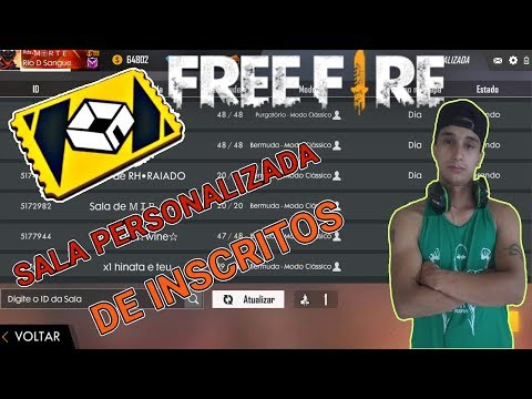 🔴FREE FIRE🔴AO VIVO🔴SALA PERSONALIZADA DE INSCRITOS