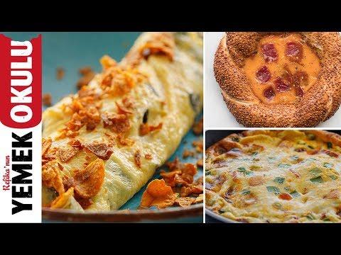 3 Gurme Yumurta Tarifi ( Pofidik, Mantarlı Çıtırtılı ve Simitli )   Kahvaltı Tarifleri