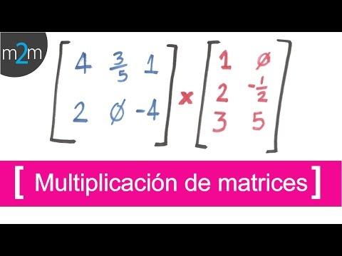 ✅  Multiplicación de matrices
