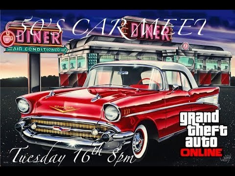 GTA 5 1950'S Car Meet TRAILER |JOIN US 16TH OCTOBER