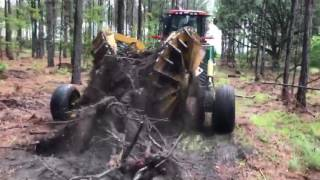 This Machine Just DESTROYS Stumps (oddly satisfying)