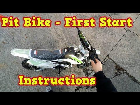 Storm Pit Bike, Dirt Bike 110ccm - First Start - Instructions + Test Ride - Video