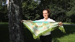 Легкий и практичный способ завязки шейного платка от интернет-магазина ExclusiveTextile.ru