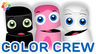 Color Collection 3: Black, Pink, White | Learning Colors Lesson for Kids | Color Crew | BabyFirst TV